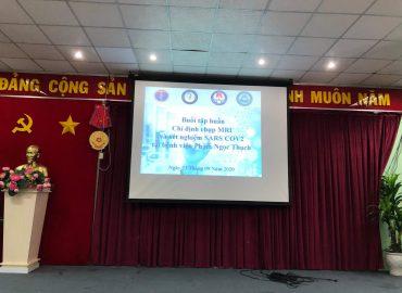 Buổi tập huấn Chỉ định chụp MRI  và xét nghiệm SARS COV2  tại bệnh viện Phạm Ngọc Thạch